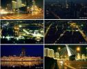 天津延时摄影都市夜景车流人流立交桥实拍 影视视频素材