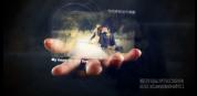 魔术手掌婚礼相册簿 科技手中相册展示 会声会影模板免费