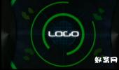 科技雷达 圆圈 logo 展示素材 ae模板