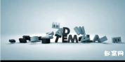 C4D 质感 3D 文字  字母标志展示AE 模板免费下载