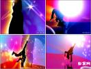 炫丽街舞跳 人影舞动 酒吧夜场晚会开场街舞视频素材