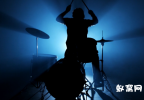 音乐人演奏乐器 架子鼓 玩音乐 视频素材