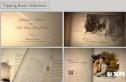 复古翻书 婚礼成长电子相册爱情记忆 婚礼相册动画AE模板