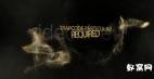 金色 粒子冲击波效果logo文字演绎展示 ae模板免费下载