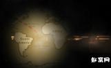 灯光照亮世界地图动画AE模版寻宝地图 世界地图