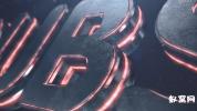 E3D标志片头动画 大气震撼厚重感现代三维霓虹灯 AE模板