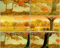 老男孩伴奏 唯美 秋天 落叶 秋千花园 舞台晚会节目视频素材