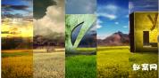 AE模板-绿色LOGO大自然环保自然融合的三维标志片头