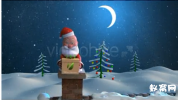 AE模板-2015圣诞节 圣诞老人动画项目下雪圣诞礼物LOGO