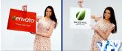 AE模板-女孩购物推广 促销活动商业衣服商场购物袋 Shopping Gir