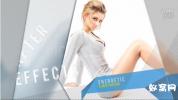 AE模板-时尚风格 图文相册 模特明显封面展示动感节奏项目