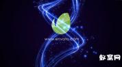 E模板-唯美粒子盘旋标志LOGO展示演示 免费下载