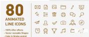 AE模板-80个图标 信息图表动画图标各行业设计元素图标图表