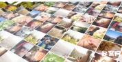 AE模板-立体方块格翻转照片展示 九宫格照片墙