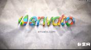 AE模板-七彩混合演绎标志 动画项目彩带霓虹油漆缤纷LOGO