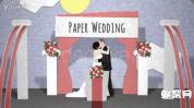 AE模板-纸卡片弹起 浪漫婚礼相册模板创意婚礼相册