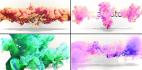 AE模板-流体片头 水墨风格彩色水墨粒子logo粒子对撞