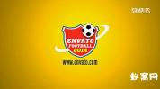 足球标志显示LOGO 体育运动 世界杯 足球元素 AE模板