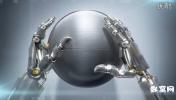 机械3D高科技机器人手球体标志 手机APP展示AE模板