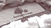 ae模板-凌乱画板标志展示视频模板 怀旧LOGOAE模板
