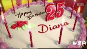 生日快乐 庆祝生日 Happy Birthday 蛋糕 蜡烛 AE模板