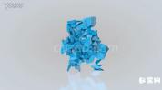 几何体组合变形Logo标志开场动画动画AE模板