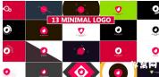 你标志显示包logo标志动感多彩AE模板包 Minimal Logo Reveal Pack
