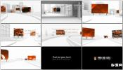 白色三维城市漫游广告牌3D广告展示AE模板免费下载