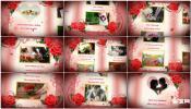 唯美红色爱情红玫瑰婚礼相册AE模板免费下载