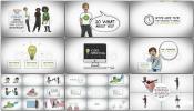卡通MG动画简笔画故事AE模板Create Your Story Whiteboard Character Pack