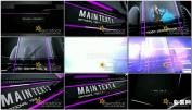 3D舞台LED墙时尚镜面三维多媒体视频墙AE模板免费下载