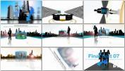 商务企业宣传矢量图形建筑商业片头动画 AE模板免费下载CORPO