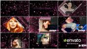 炫彩发光粒子形时尚模特魅力展示明星模特包装AE模板免费下