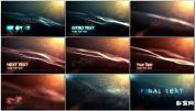 唯美大气光线光效粒子海洋开场预告AE模板字幕免费下载