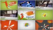 油漆水彩彩色液体涂料世界杯视频宣传ae模板免费下载