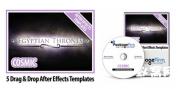 星空黑暗宇宙空间系列主题AE模板5套DVD栏目节目包装套装