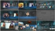 未来科技化室内空间视频展示 3D空间墙壁AE模板发下载