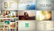 照片组合英文字母幻灯片 家庭相册展示AE模板免费下载Photo Al