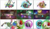 运动五彩粒子视频展示AE模板免费下载