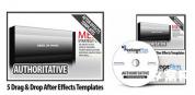 视频多媒体综合演示AE模板5套栏目包装套装AE模板