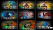 油漆水彩彩色涂料飞溅墙壁动画Paint SplatterAE模板免费下载