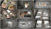 老相框老阁楼陈旧木质相框婚礼相册 婚礼家庭AE模板免费下