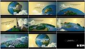 环游世界三维地球低多边世界冒险之旅 Over TAE模板免费下载