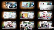 回忆老照片童年时光回忆照片AE模板电子相册免费下载