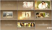 AE模板免费下载简洁唯美粒子温馨字幕照片群集粒子婚礼相册