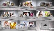AE模板唯美浪漫白色立体折纸贺卡婚礼电子相册免费下载