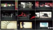 AE模板视频监视器多媒体演示电视墙图片产品展示