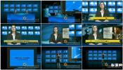 电视台多屏幕虚拟演播厅 Virtual Studio-II (Multi-Screens)节目包装