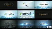 AE模板黑白优雅条纹波浪组合标志动画开场 Clean Elegant Logo