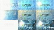 模拟水中波浪变形标志 Logo水墨水光波纹AE模板